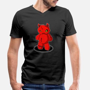 Devil Cute Little sweet devil, little devil cute figure - Men's Organic V-Neck T-Shirt
