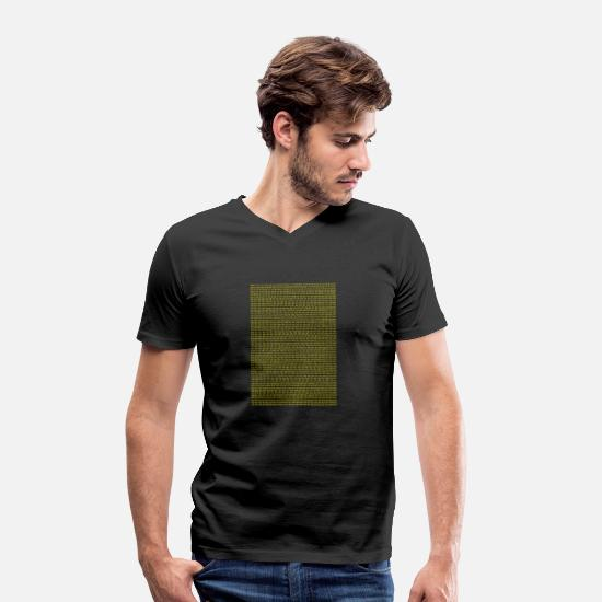 College T-Shirts - Prime Numbers | 1 to 10.000 - Men's Organic V-Neck T-Shirt black