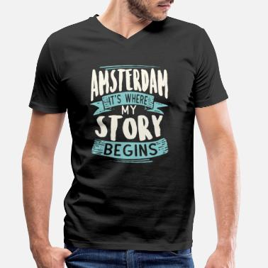 Story Amsterdam it's where my story begins - Men's Organic V-Neck T-Shirt