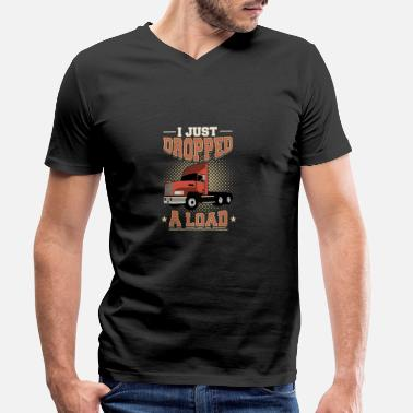 Funny Sayings Trucker Funny truck driver trucker profession saying gift - Men's Organic V-Neck T-Shirt by Stanley & Stella