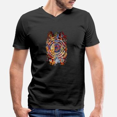 Eddart U het selecteren van / Abstract Art - Mannen V-hals bio T-shirt
