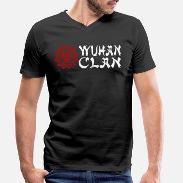 Clan Wuhan clan - Men's Organic V-Neck T-Shirt