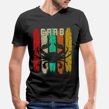 Crabbing crab - Men's Organic V-Neck T-Shirt by Stanley & Stella