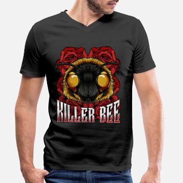 Killer Bee Killer Bee | Modern bee insect wilderness gift - Men's Organic V-Neck T-Shirt by Stanley & Stella
