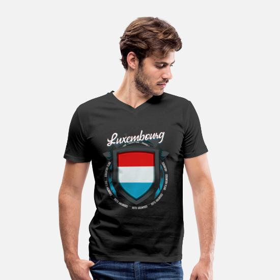 National Colours T-Shirts - Luxembourg - Men's Organic V-Neck T-Shirt black