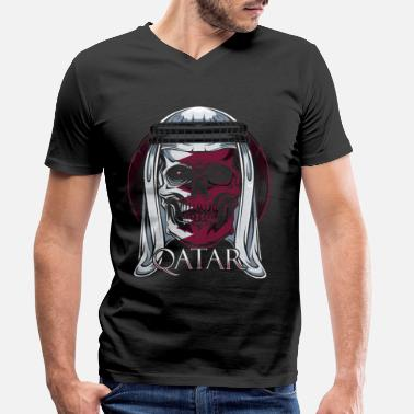 Qatar Qatar - Men's Organic V-Neck T-Shirt