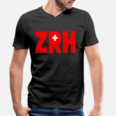 Zurich Zurich ZRH Switzerland Souvenir Switzerland Gift - Men's Organic V-Neck T-Shirt