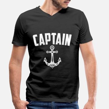 Anchor Captain Captain anchor - Men's Organic V-Neck T-Shirt by Stanley & Stella