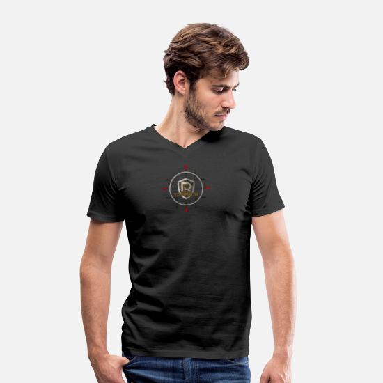 Crosshair T-Shirts - PR Tactical Sniper Edition - Men's Organic V-Neck T-Shirt black