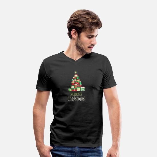 Wife T-Shirts - Merry Christmas - Men's Organic V-Neck T-Shirt black