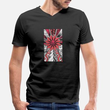 Tatoo Tatoo Art red white black - Men's Organic V-Neck T-Shirt