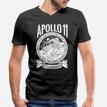 Production Year Apollo Moon Landing 50 Years Anniversary product - Men's Organic V-Neck T-Shirt
