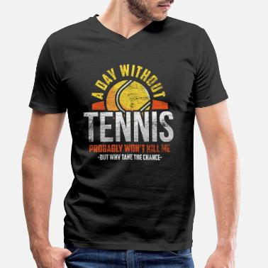 Tennis Racket Tennis lovers - Men's Organic V-Neck T-Shirt by Stanley & Stella