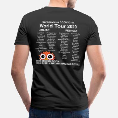 World Corona World Tour 2020 - Men's Organic V-Neck T-Shirt
