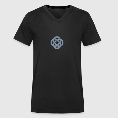 Celtic knot loops - Men's Organic V-Neck T-Shirt by Stanley & Stella