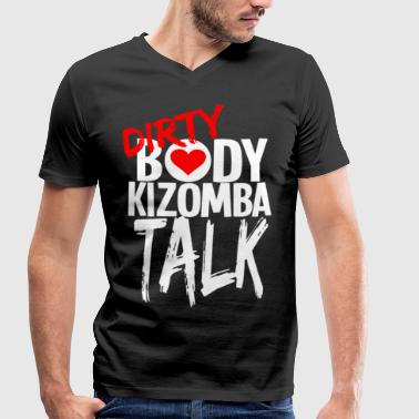 KIZOMBA - Dirty Body Talk - Dance Shirts - Mannen bio T-shirt met V-hals van Stanley & Stella