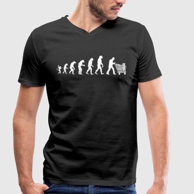 Evolution of man : I buy so i am! - T-shirt bio col V Stanley & Stella Homme