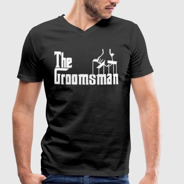 The Groomsman. The Best Man. Gifts for stag night - Men's Organic V-Neck T-Shirt by Stanley & Stella