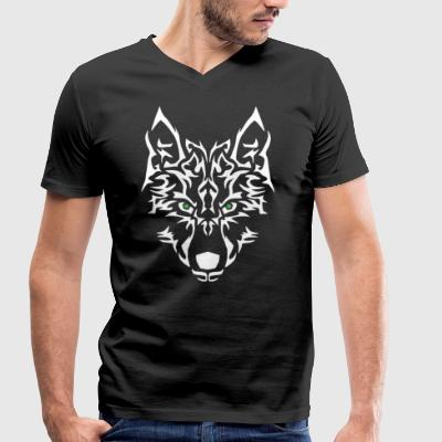 Wolf Power. Easy to personalise. - Men's Organic V-Neck T-Shirt by Stanley & Stella