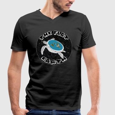 Flat earth - Men's Organic V-Neck T-Shirt by Stanley & Stella