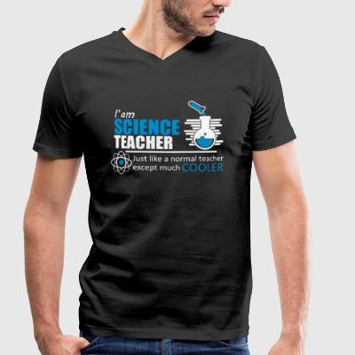 Professeur de Sciences Citation drôle - T-shirt bio col en V Stanley & Stella Homme