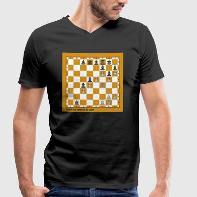 World Chess Championship - Men's Organic V-Neck T-Shirt by Stanley & Stella