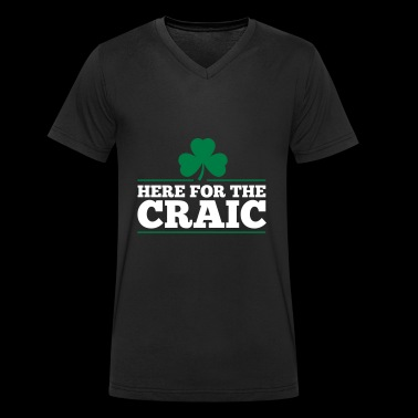 HERE FOR THE CRAIC - Men's Organic V-Neck T-Shirt by Stanley & Stella