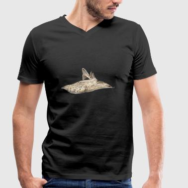 Angelote - requin ange - requin - ange Réquin - T-shirt bio col V Stanley & Stella Homme