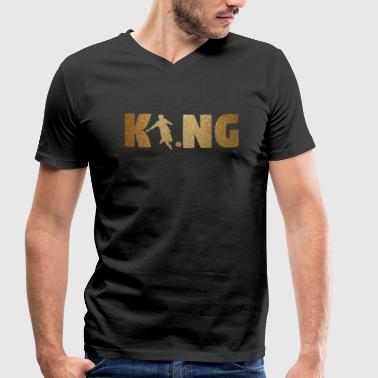 KING Soccer! Soccer! Ball! Present! - Men's Organic V-Neck T-Shirt by Stanley & Stella