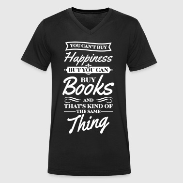 You cant buy happiness but you can buy books - Männer Bio-T-Shirt mit V-Ausschnitt von Stanley & Stella