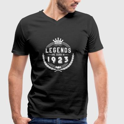 Legends Shirt - Legends are born in 1923 - Men's Organic V-Neck T-Shirt by Stanley & Stella
