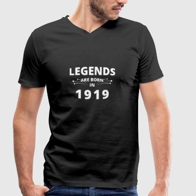 Legends are born in 1919 - Men's Organic V-Neck T-Shirt by Stanley & Stella