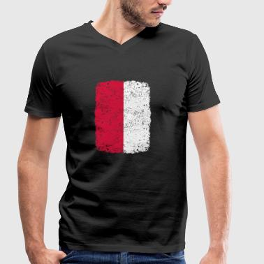 roots home country roots home POLAND polska pol - Men's Organic V-Neck T-Shirt by Stanley & Stella