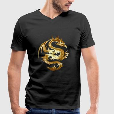 dragon - Men's Organic V-Neck T-Shirt by Stanley & Stella