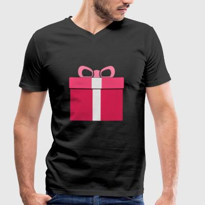 gift Box - Men's Organic V-Neck T-Shirt by Stanley & Stella