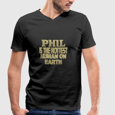 Phil - Men's Organic V-Neck T-Shirt by Stanley & Stella