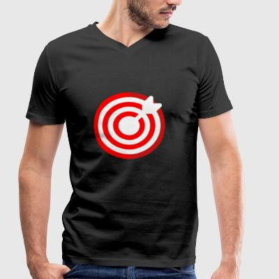 dartboard - Men's Organic V-Neck T-Shirt by Stanley & Stella