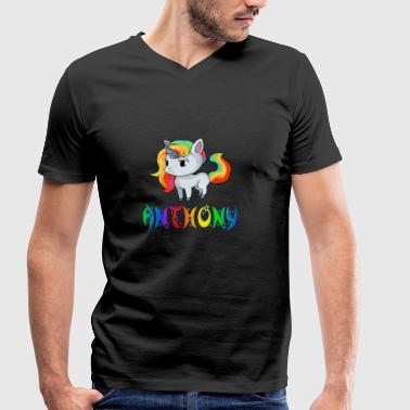 Anthony Unicorn - Men's Organic V-Neck T-Shirt by Stanley & Stella