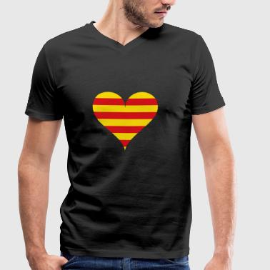 heart - Men's Organic V-Neck T-Shirt by Stanley & Stella