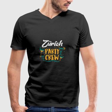 Party Crew Zürich - Geschenk - Men's Organic V-Neck T-Shirt by Stanley & Stella