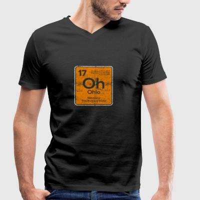 Oh Ohio Periodic Table - Men's Organic V-Neck T-Shirt by Stanley & Stella