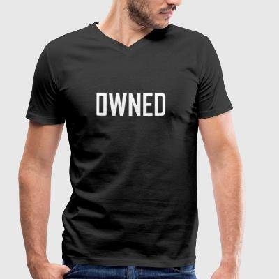 owned - Men's Organic V-Neck T-Shirt by Stanley & Stella