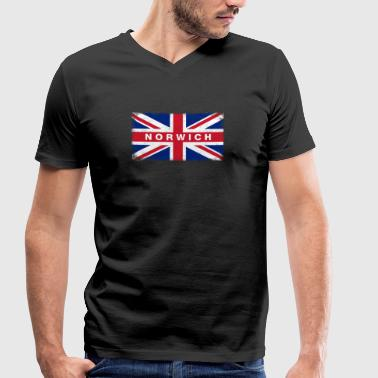 Norwich Shirt Vintage United Kingdom Flag T-Shirt - Men's Organic V-Neck T-Shirt by Stanley & Stella