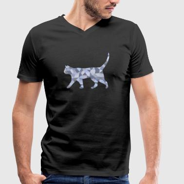 cat - Men's Organic V-Neck T-Shirt by Stanley & Stella