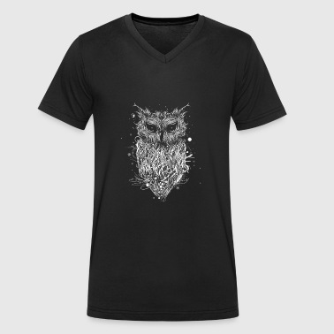 Mysterious owl - Men's Organic V-Neck T-Shirt by Stanley & Stella
