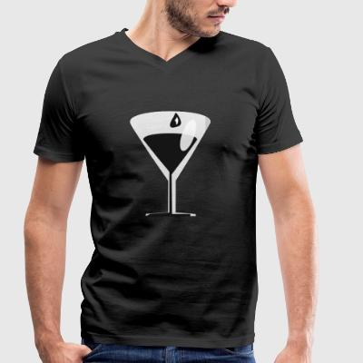 cocktail - Men's Organic V-Neck T-Shirt by Stanley & Stella