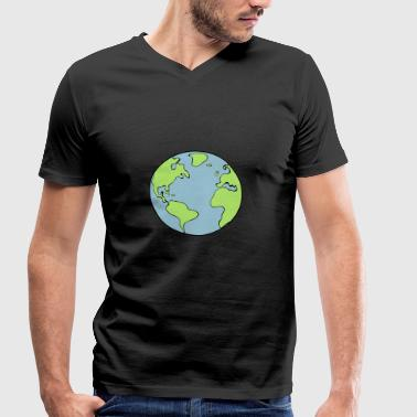 earth - Men's Organic V-Neck T-Shirt by Stanley & Stella