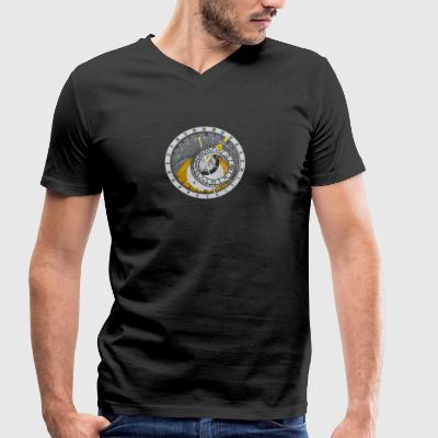 Solar Clock Solar eclipse Sun Sun time clock astro - Men's Organic V-Neck T-Shirt by Stanley & Stella
