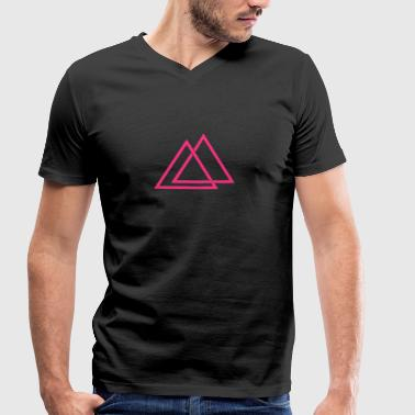 Triangle illusion Hipster Triangle 1c - T-shirt bio col en V Stanley & Stella Homme
