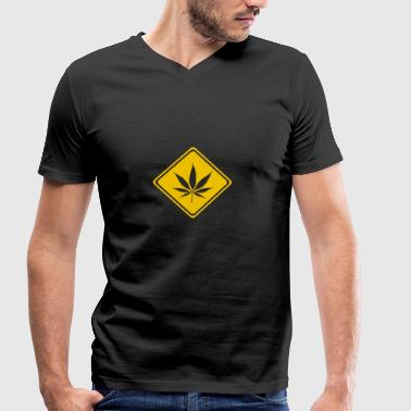 cannabis - Men's Organic V-Neck T-Shirt by Stanley & Stella